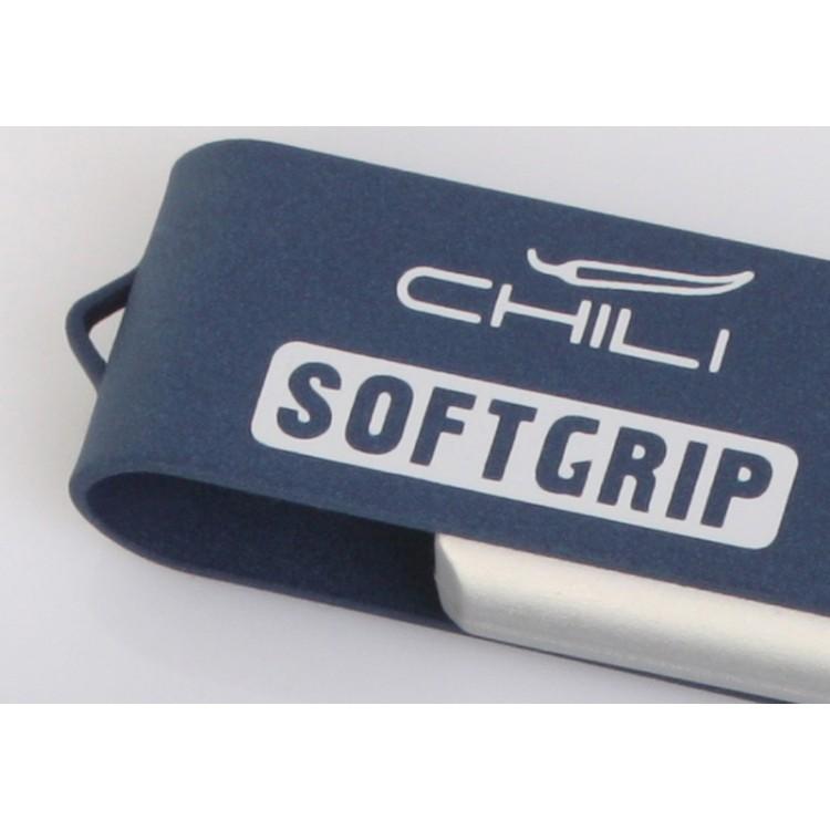 Набор ручка + зарядное устройство 4000 mAh в футляре, черный, покрытие soft grip#, темно-синий