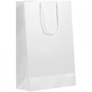 Пакет бумажный «Блеск», средний, белый