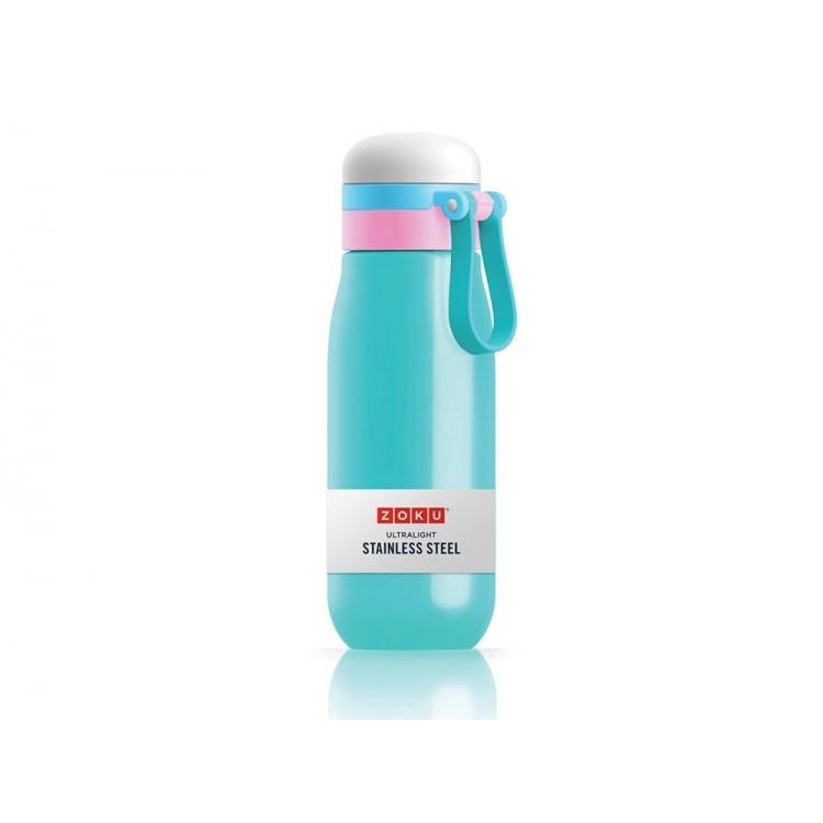 Бутылка вакуумная из нержавеющей стали 500 мл бирюзовая