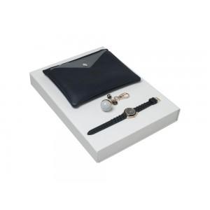 Подарочный набор Bird: брелок, часы наручные, сумочка. Cacharel